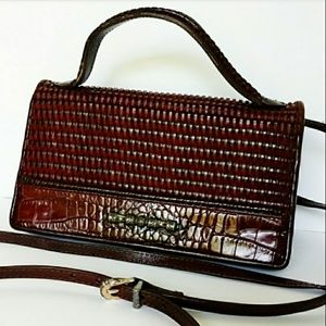 BRIGHTON | VNTG Leather Crossbody Clutch Wallet